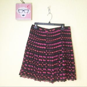 6a67f27fa1 Halogen Skirts | Pleated Skirt With Lips Print | Poshmark
